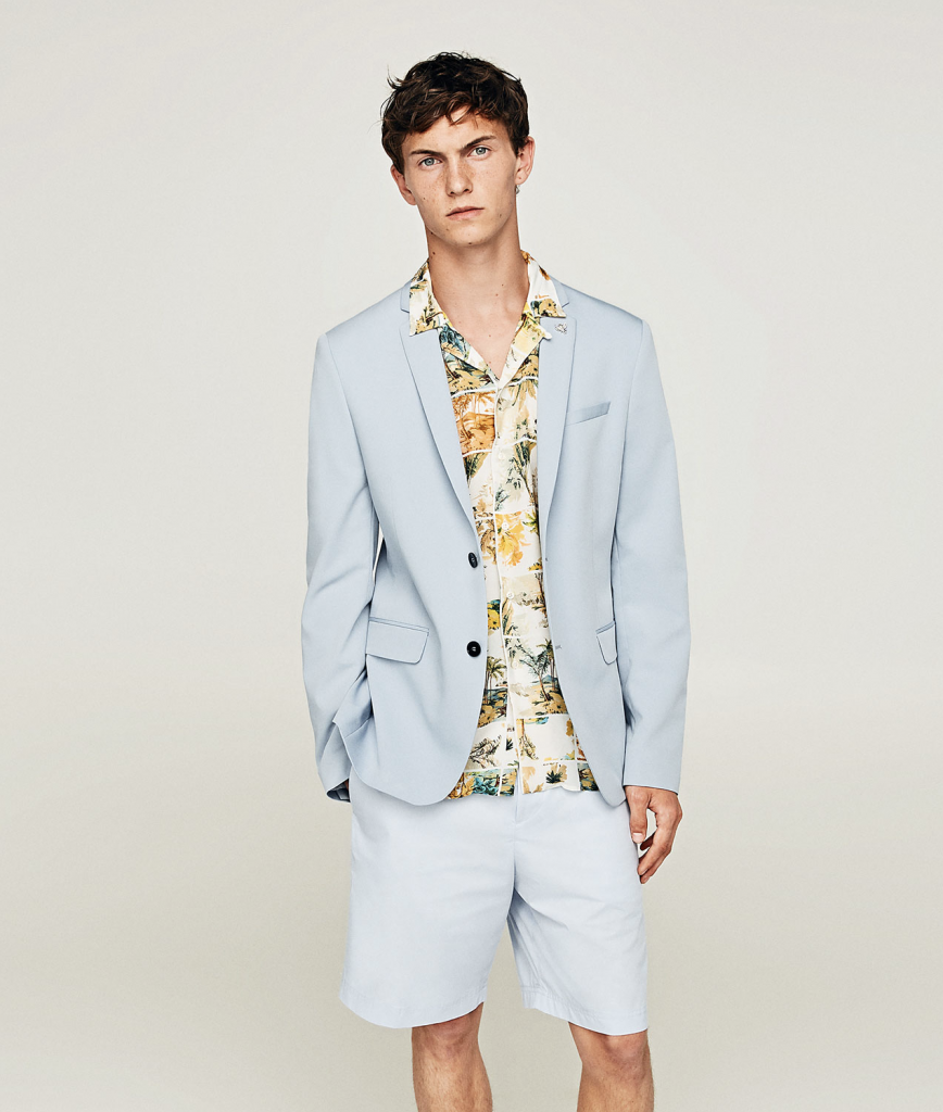 801ad51bc0a This look is perfect for a summer wedding, where you want to make an  impression. All you need to do is swap the shorts for tailored trousers.